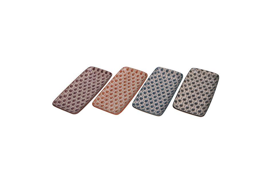 4 pequeños platos de cerámica Flabella - 4