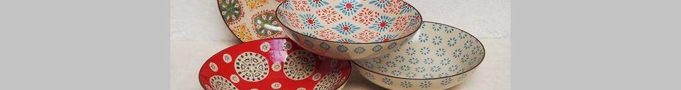 Descriptivo Materiales  4 platos de pasta bohemia