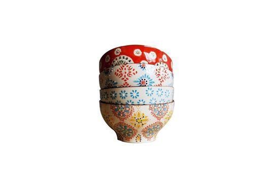 4 tazones de cerámica Bohemia