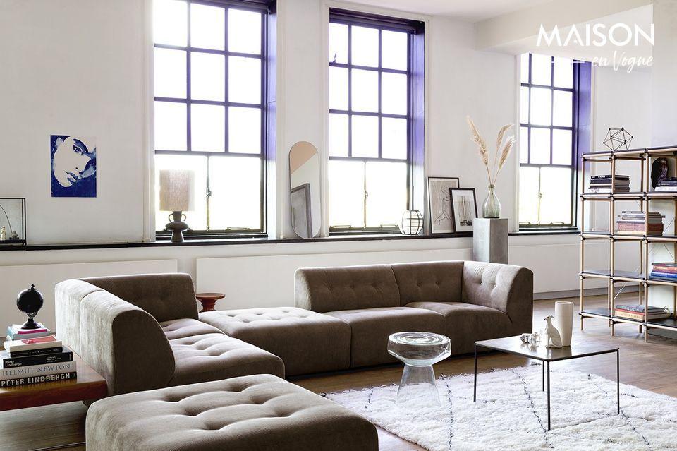 Una alfombra para habitaciones grandes con un toque suave y natural