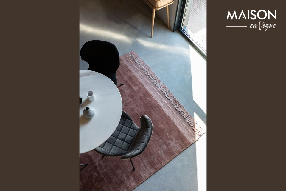 La marca Zuiver ha imaginado la alfombra Blink en color rosa en formato 170X240 cm
