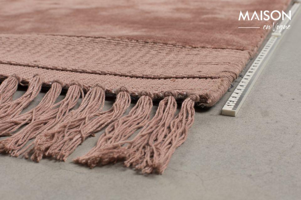 Su alfombra entonces parecerá a veces rosa, a veces terracota