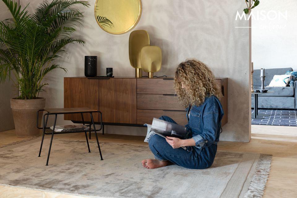 Una alfombra suntuosamente suave, de colores suaves