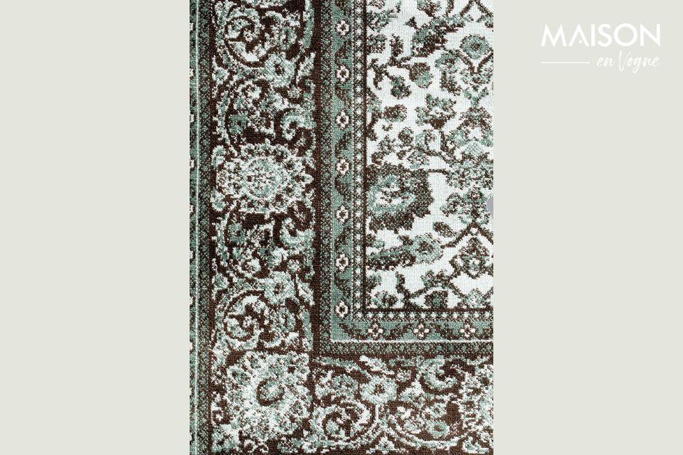 Este accesorio decorativo tiene un elegante diseño gráfico en toda su superficie