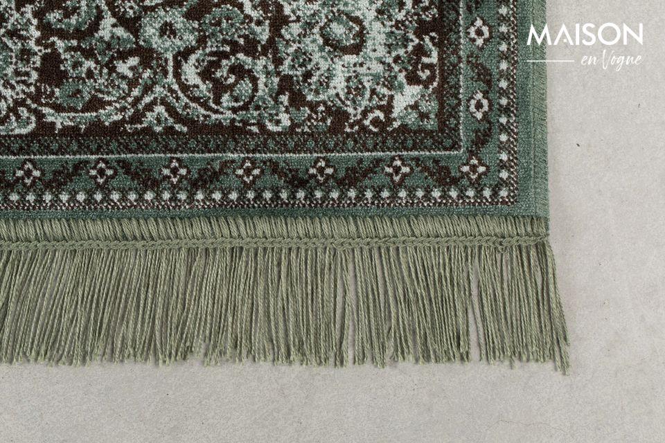 Esta alfombra muy auténtica será perfecta en una sala de estar moderna o más tradicional