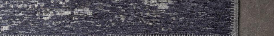 Descriptivo Materiales  Alfombra Caruso en color azul lavado