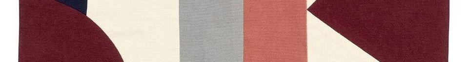 Descriptivo Materiales  Alfombra de mesa Patchwork 33 x 48 cm en algodón rosa