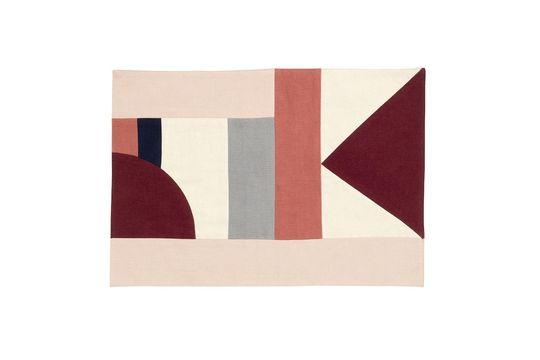 Alfombra de mesa Patchwork 33 x 48 cm en algodón rosa Clipped