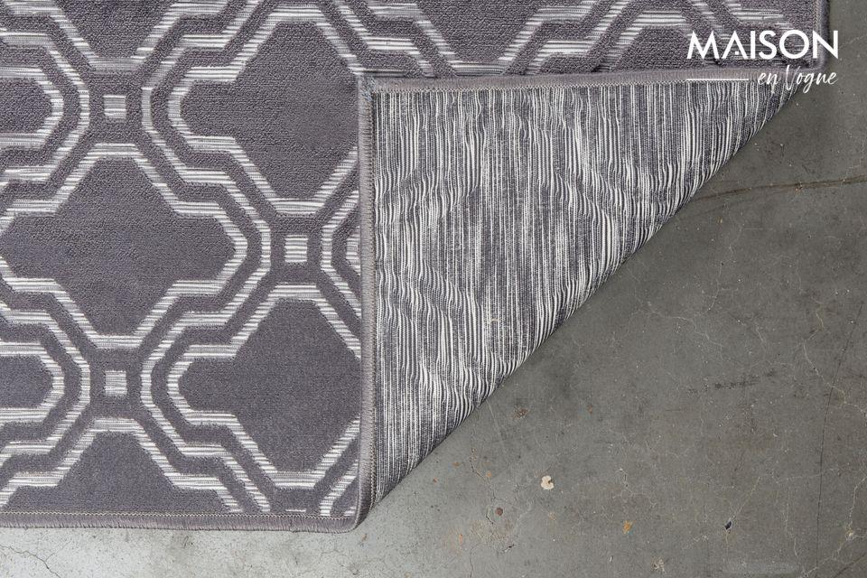 La alfombra gris de gran tamaño Feike 160X230 ofrece una buena protección gracias a sus materiales
