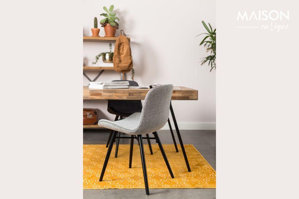Esta alfombra es compatible con todo tipo de suelos, incluso los calefactados