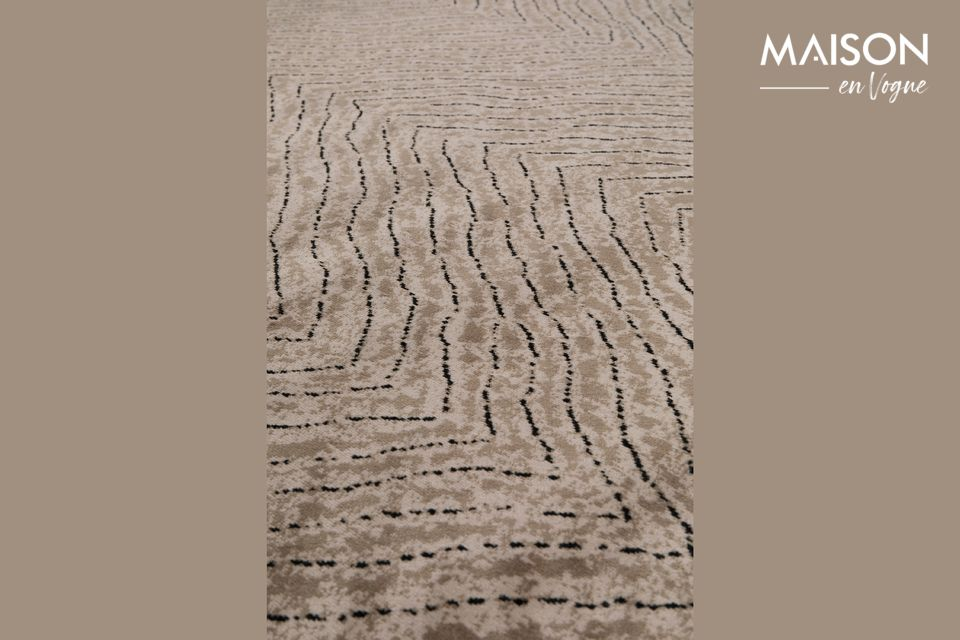 Esta alfombra Freek 170x240 de color marrón de White Label Living aportará un verdadero toque