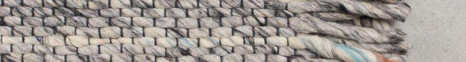 Descriptivo Materiales  Alfombra Frills 170X240 gris-azul