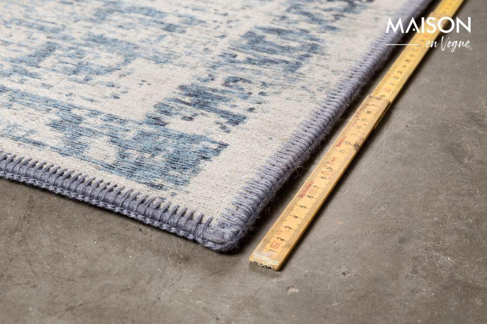 Tejido a máquina con fuertes hilos de algodón y lana