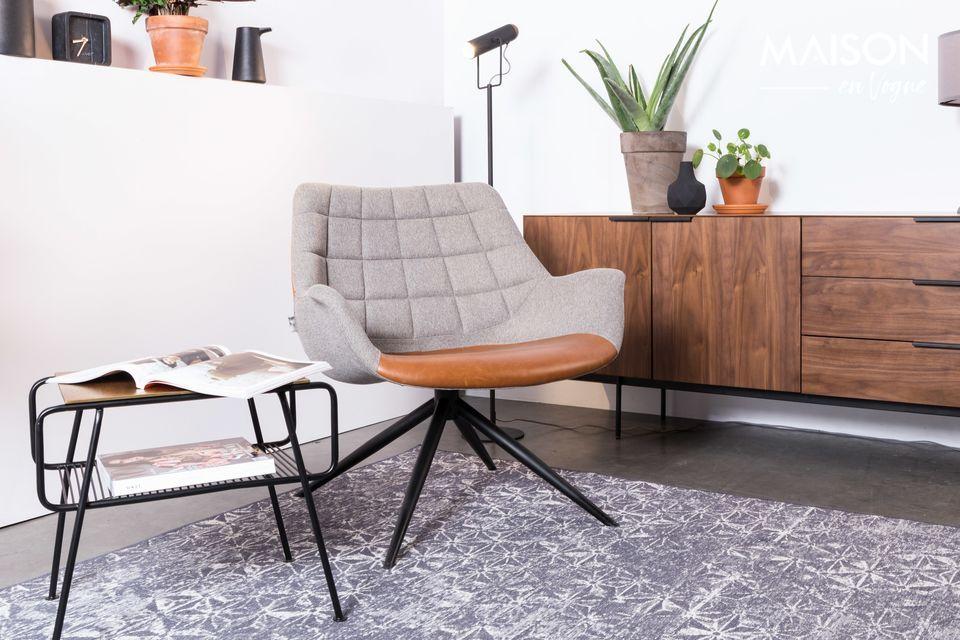 Dese el gusto de la alfombra azul de Zuiver Miller y cree un ambiente relajante en su casa