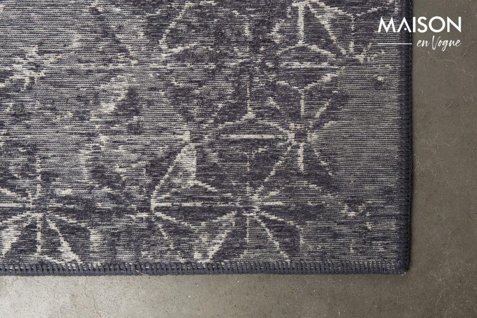 Deja volar tu imaginación y adivina cómo son los patrones de la alfombra azul de Miller