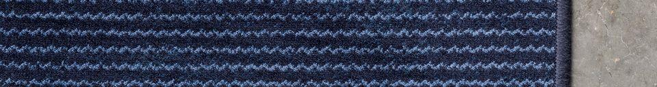 Descriptivo Materiales  Alfombra Obi 170X240 azul
