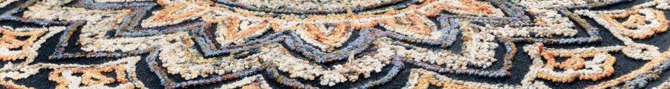 Descriptivo Materiales  Alfombra Pix redonda 170 centímetros