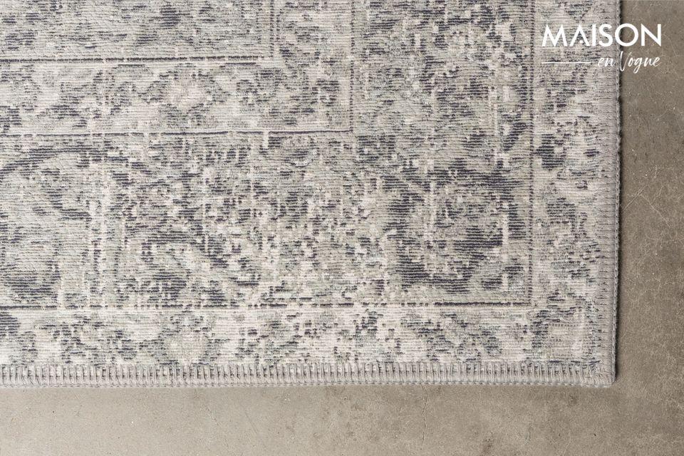 Sus antiguos dibujos persas combinados con sus relajantes tonos de gris la convierten en una