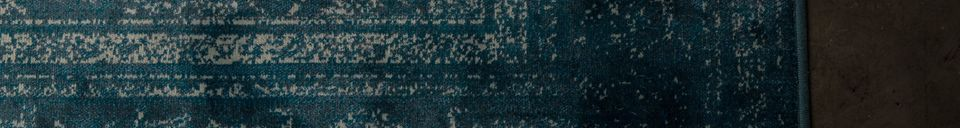 Descriptivo Materiales  Alfombra Rugged azúl