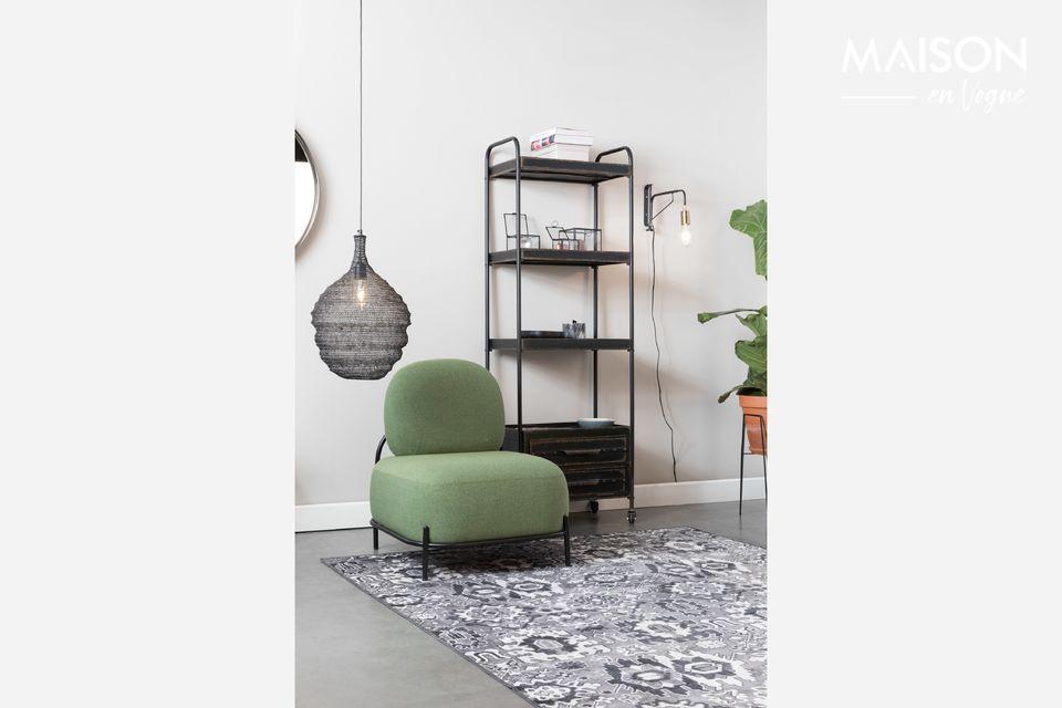 Una alfombra compatible con la calefacción de suelo, con soporte de goma