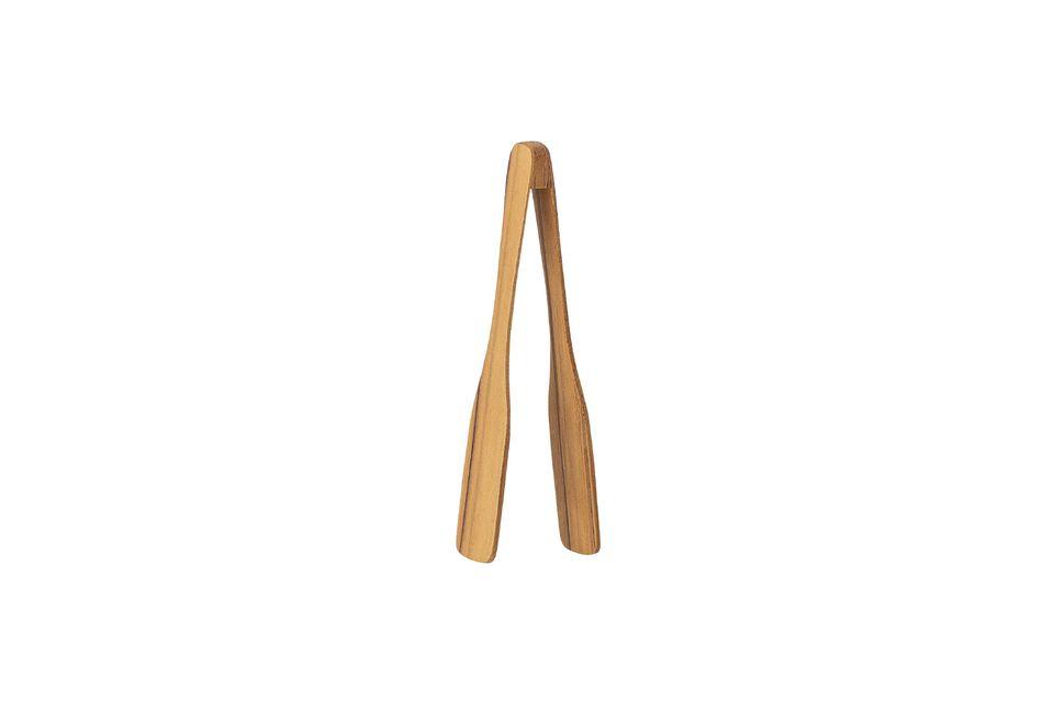 Esta pinza de teca le ayudará en cualquier manipulación de alimentos calientes