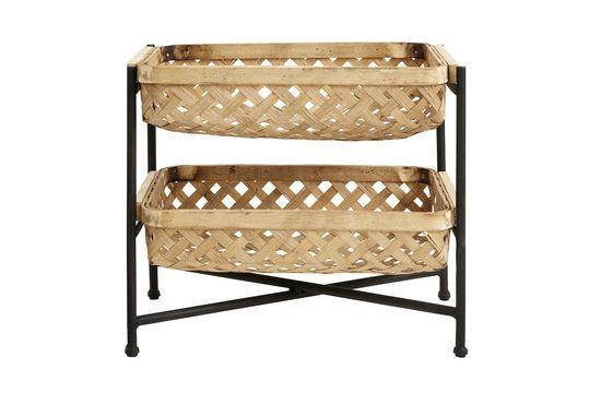 Apoyo con cestas de Bambú y hierro lacado negro Curbigny