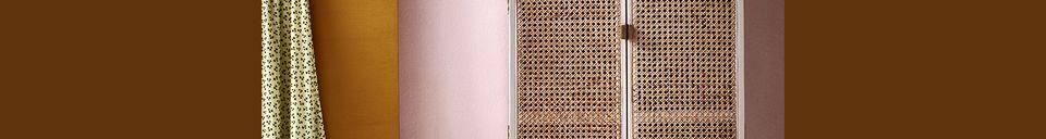 Descriptivo Materiales  Armario ovalado retro Gruny gris