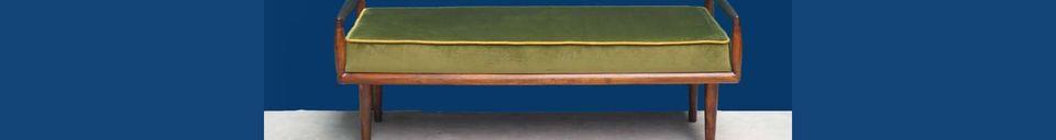 Descriptivo Materiales  Banco de terciopelo verde Farrow