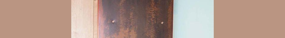 Descriptivo Materiales  Banco exterior de color petróleo Chersey
