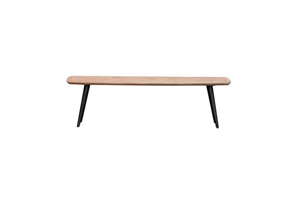 Opte por el estilo de compañía con el banco Loupiac firmado por la marca de muebles Chehoma