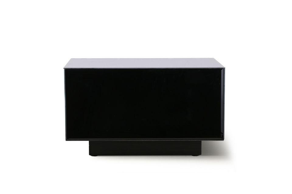 Una mesa negra con un estilo sofisticado