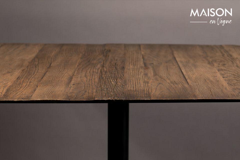 Bistro Braza mesa cuadrada color marrón - 4