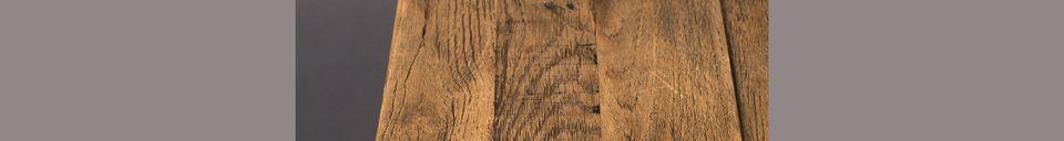 Descriptivo Materiales  Bistro Braza mesa cuadrada color marrón