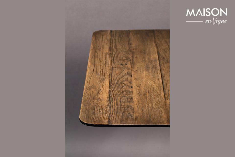 Bistro Braza mesa cuadrada color marrón - 5