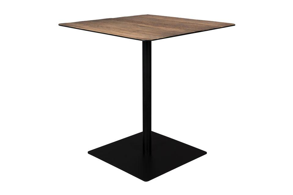 Bistro Braza mesa cuadrada color marrón - 6