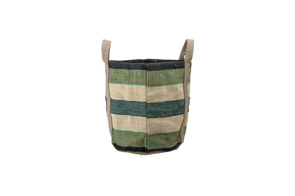Esta robusta bolsa de yute le permitirá llevar todo lo que necesita diariamente: comestibles