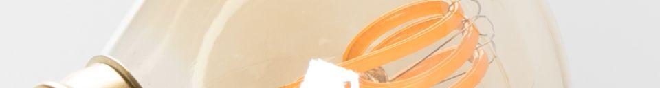 Descriptivo Materiales  Bombilla Classic Mini oro