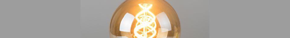 Descriptivo Materiales  Bombilla Globe Gold talla L
