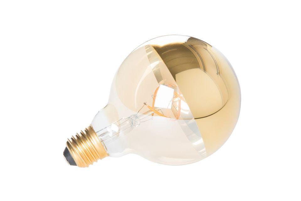 Este elegante globo consiste en una base transparente para la difusión de la luz y una parte