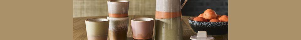 Descriptivo Materiales  Cafetera de cerámica de los años 70