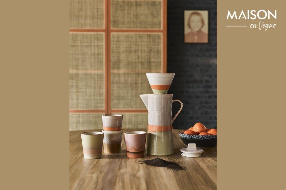 Cafetera de cerámica de los años 70 HK Living