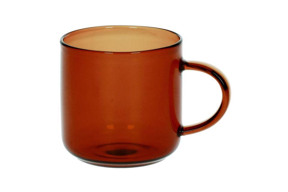 Caja de 4 tazas de Espresso Lasi Ambre oscuro Pomax