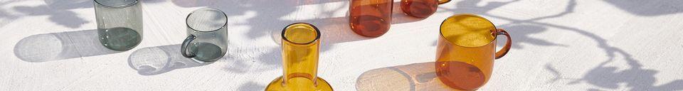 Descriptivo Materiales  Caja de 4 tazas de Espresso Lasi Ambre oscuro