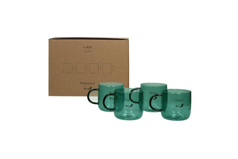 Estas 4 tazas de café tienen 8 cm de alto y 8,5 cm de diámetro