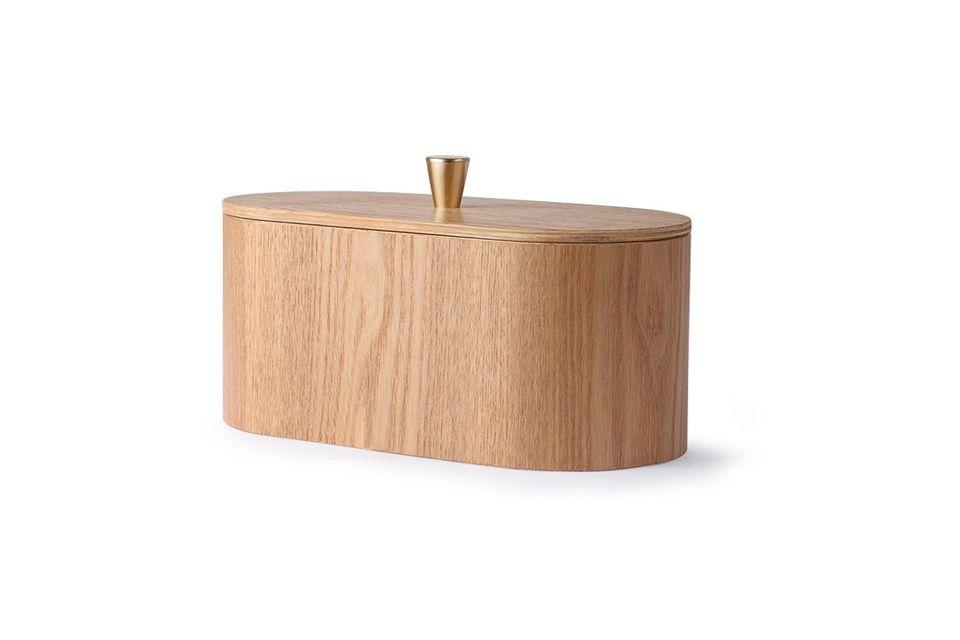 Su diseño natural conserva el color de la madera