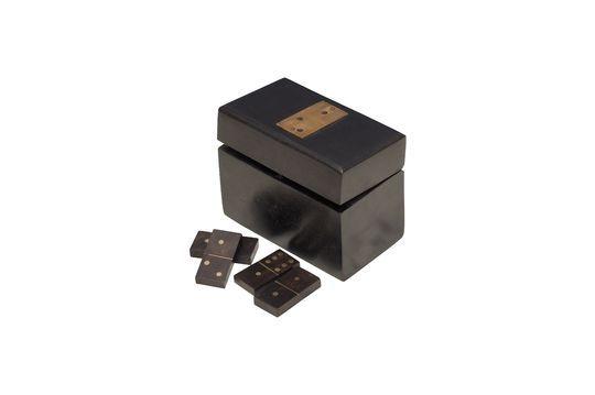 Caja de dominó de madera con detalles de latón Bouhey Clipped