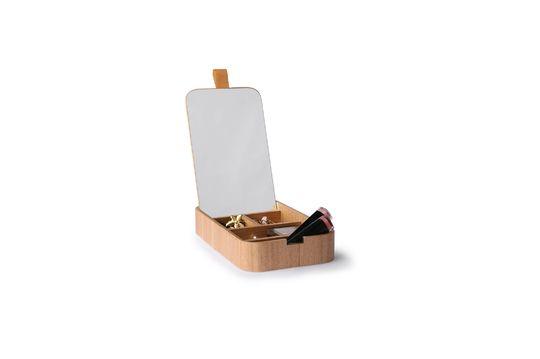Caja de espejo de madera Curchy Clipped