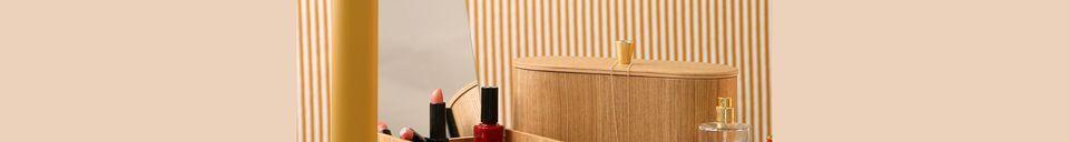 Descriptivo Materiales  Caja de espejo de madera Curchy