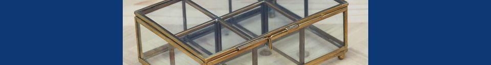 Descriptivo Materiales  Cajas de joyas Tencin 6 compartimentos