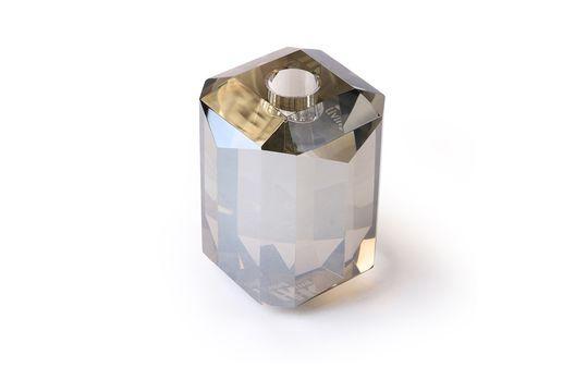 Candelabro de vidrio Cristal diamante gris Clipped
